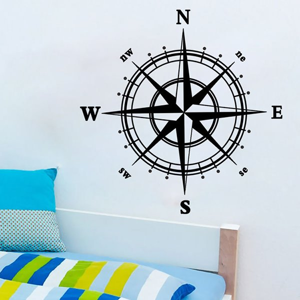 Amazing Creative Compasses Nursary Removable Wall Sticker
