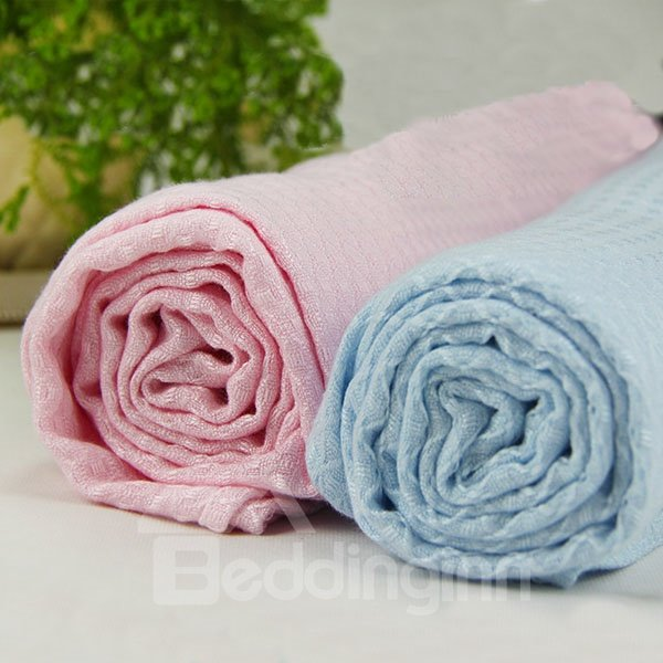 Cool Solid Color Bamboo Charcoal Fiber Baby Blanket
