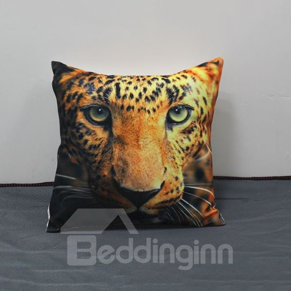 Lifelike Powerful 3D Leopard Print Throw Pillow
