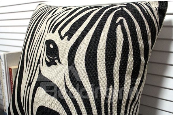 Vintage Fashion Zebra Print Blends Throw Piloow
