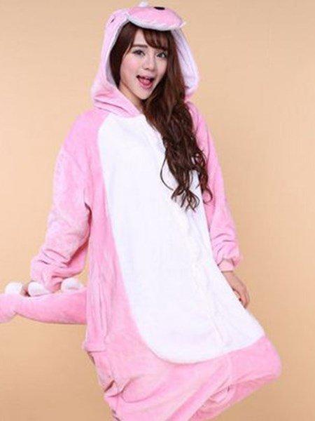 Fashion and Cute Soft Material Pink Dinosaur One-Piece Sleepwear