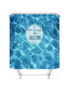 Trendy Vivid Sea Water Print Shower Curtain
