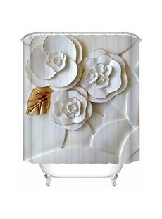 Vivid 3D Flower Creative Design Shower Curtain