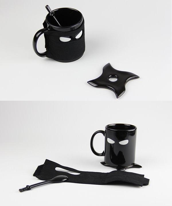 Creative Musked Ninja with Sword Ceramics Coffee Mugs
