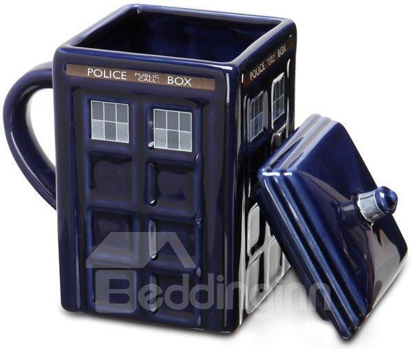 Creative Tardis Police Box Ceramics Coffee Mug