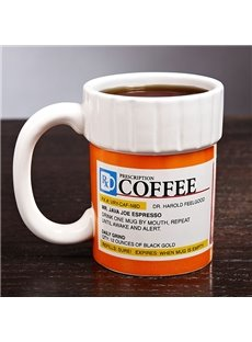 Creative FunnyThe Prescription Pill Bottle Ceramics Coffee Mug