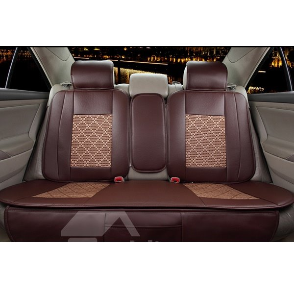 Business Style Classic Colors Grid Universal Fit Car Seat Covers