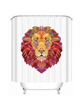 Creative Design Lion Print 3D Bathroom Shower Curtain