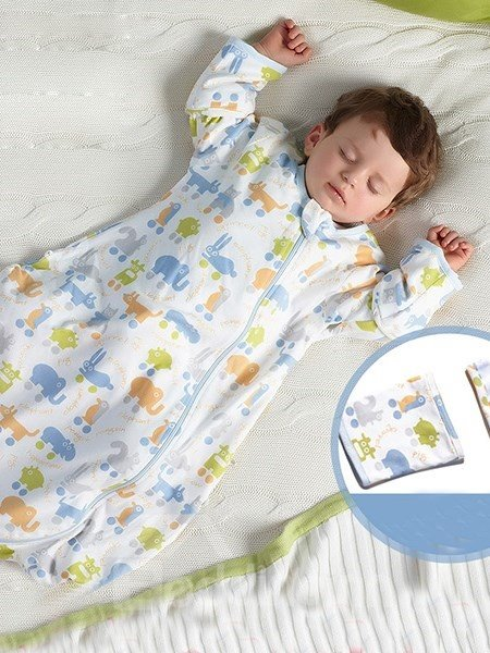 Lovely Colorful Animals Pattern Baby Sleeping Bag