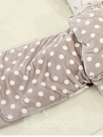 Lovely Girl and Polka Dot Warm Baby Sleeping Bag