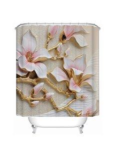 Amazing 3D Magnolia Flower Pattern Shower Curtain