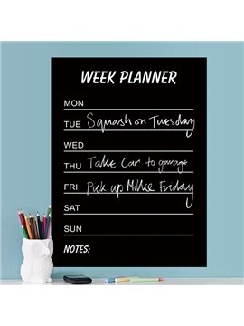 Functional Home and Office Week Planner Blackboard Wall Sticker