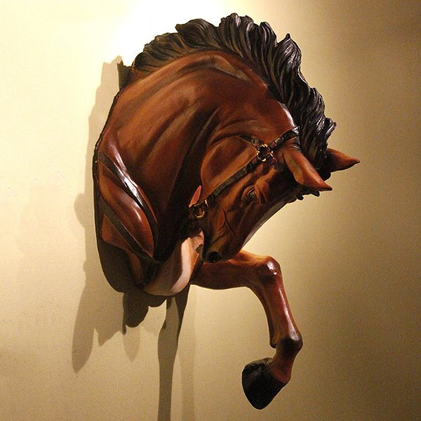 Marvelous and Elegant Resin Horse Head Wall Art Hook Decor