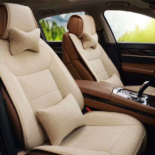 Soft and Comfortable Linen Material Exquisite Car Seat Covers
