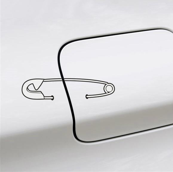 Cute And Simple Pin Design Creative Car Sticke