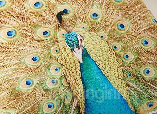 Creative Noble Peacock Printing Throw Pillow Case