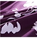 Noble Flowers Print European Style Purple 4-Piece Bedding Sets