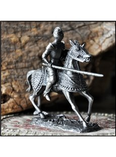 original and European Style Delicate Knight with Horse Artware