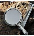 Retro and Distinctive Design Make-Up Mirror and Comb