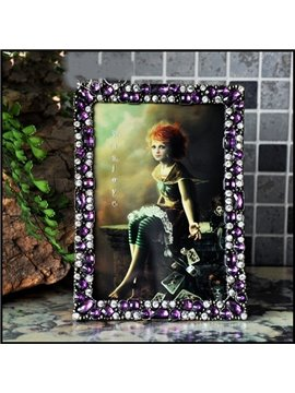 Romantic Creative Purple Crystal Decoration Photo Frame