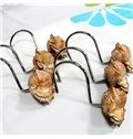 Unique Sea Snail Shaped 10 Pieces Resin Shower Curtain Hooks