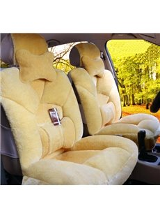 5 Seats Car Seat Covers Extremely Comfy Soft Lambswool Material Automotive Vehicle Cushion Cover for Cars SUV Pick-up Truck Universal Fit Set Auto Interior Accessories