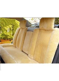 Extremely Comfy Soft Lambswool Material Design Universal Car Seat Covers