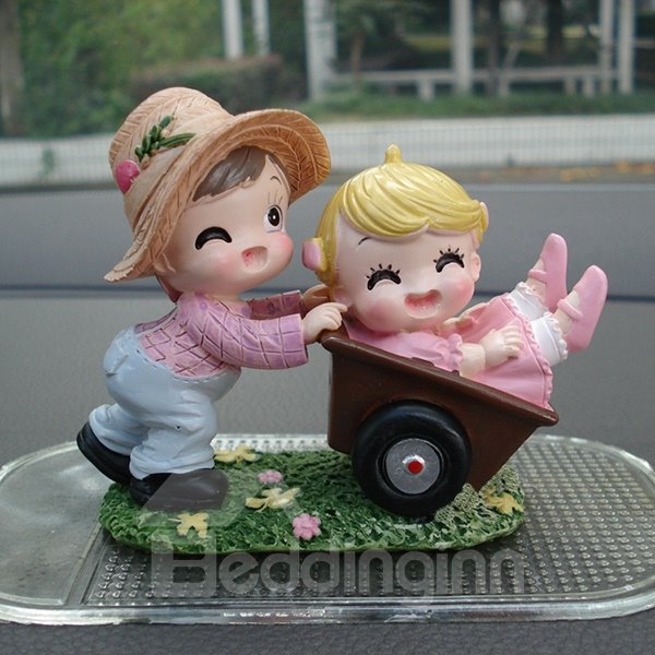 Happy Lovers Laughting Child Creative Car Decor