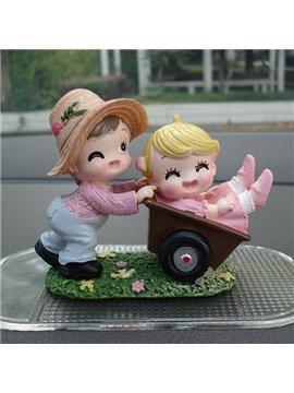Happy Lovers Laughting Child Creative Car Decor
