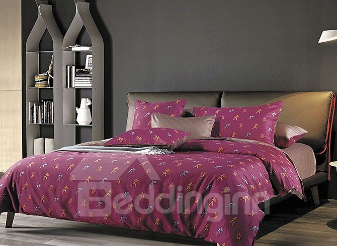 Brave Roman Solider Design European Style 4-Piece Duvet Cover Sets