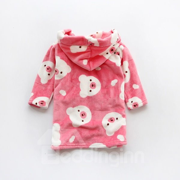 Fresh Colored Baby Bear Pattern Kids Robe