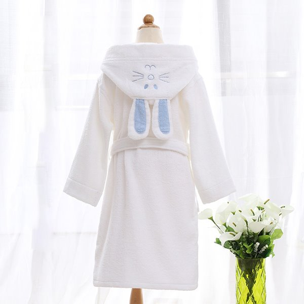 Lovely Rabbit Hooded Thicken Cotton Kids Robe