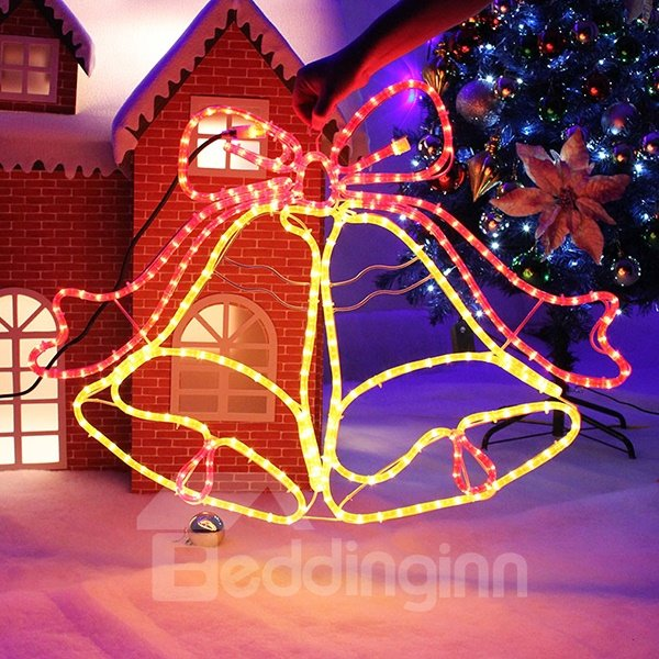 Shiny Two Color Tinkle Bell Style Christmas Light Decoration