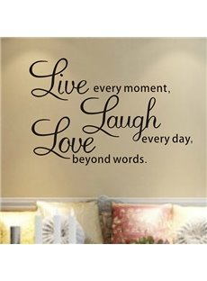 Words of Wisdom Live Laugh Love Removable Wall Sticker