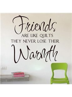 Witty Words Friends Are Like Quilts Removable Wall Sticker