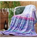 Romantic Purple Provence Print Super Cozy Flannel Blanket
