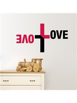 Creative Double LOVE in Cross Design Removable Wall Sticker