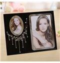 Gorgeous Neckless Glass 2-Photo Desktop Photo Frame