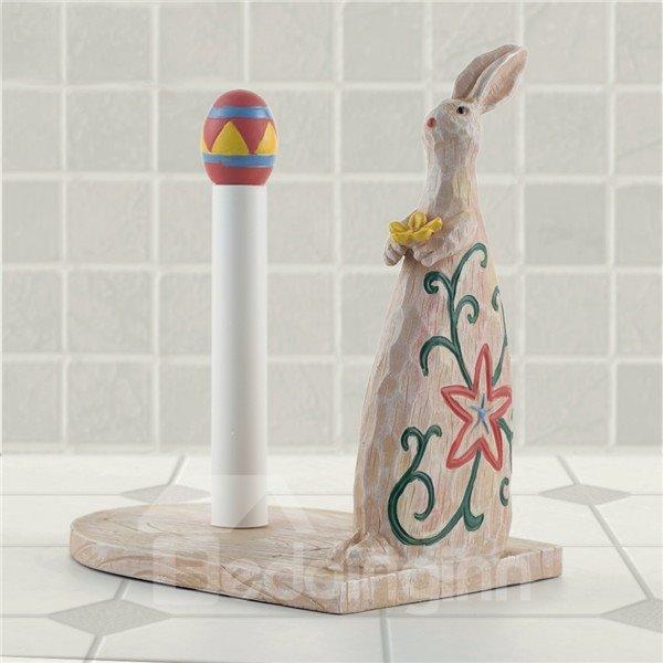 Cute Rabbit Image Cartoon Toilet Paper Holder