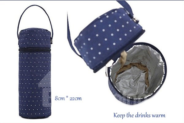 Chic Royal Blue Polka Dot Pattern Diaper Bag