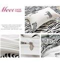 Unique Zebra Print 4-Piece Duvet Cover Sets
