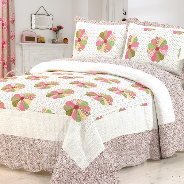 Fresh Irised Flowers European Style Cotton Bed in a Bag