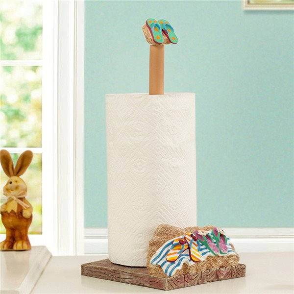 Creative Beach Sandal Image Unique Toilet Paper Holder