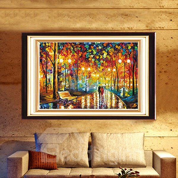 Abstract Oil Painting Style Walk in Moonlight DIY Diamond Stickers