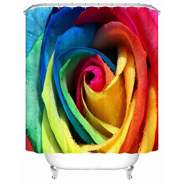 Glourious Colorful Rose Design Vivid 3D Shower Curtain