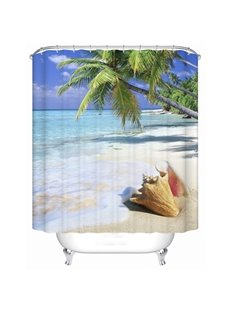 Charming Ocean and Shall Pattern 3D Shower Curtain