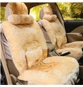 Warm And Attractive Design Plush Pure Color Universal Car Seat Covers