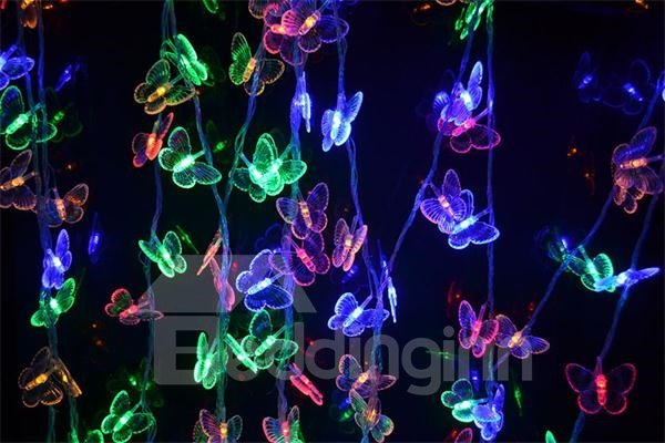 Fantastic Butterfly Pattern 4m Battery Colorful Strip Light