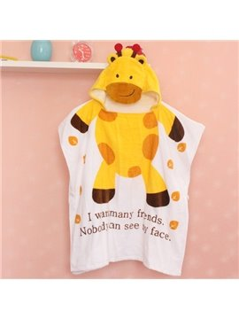 Lovely Giraffe Shape Water Absorption Baby Bath Towel