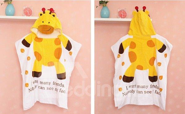 Lovely Giraffe Shape Water Absorption Baby Bath Towel